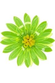 IssaBroche fleur en acrylique fluo Dahlia