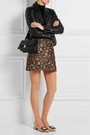 Miu MiuMadras small textured-leather shoulder bag