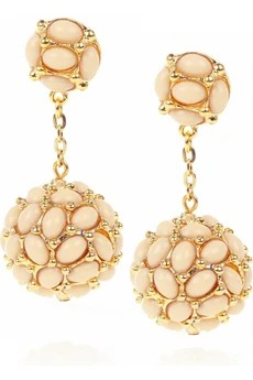 Kenneth Jay Lane 22-karat gold-plated droplet earrings