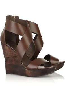 Diane von FurstenbergOpal wedge leather sandals