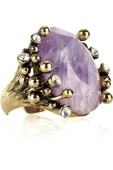 Roberto Cavalli Amethyst cocktail ring