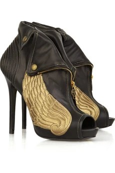 Alexander McQueenWinged leather ankle boots