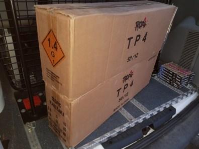 BPOLD-B: Bundespolizei beschlagnahmt 55 kg verbotene Pyrotechnik