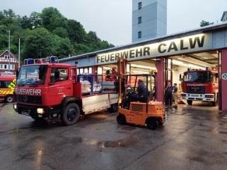 """KFV-CW: Katastophenschutzzug """"Hochwasser"""" des Kreises Calw hilft bei Hochwasserkatastrophe in Rheinland-Pfalz"""