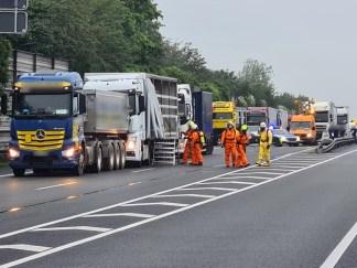 FW Lehrte: Gefahrguteinsatz Autobahn A2: LKW verunfallt mit schwach radioaktiver Ladung