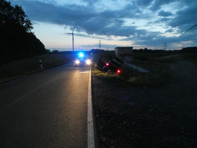 POL-MS: Fahrzeug flüchtet - Polizeiwagen verunfallt - 39-Jähriger festgenommen