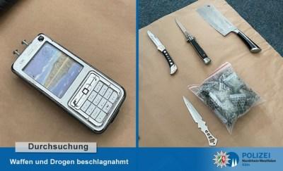 POL-K: 210506-2-K Durchsuchungen - Betäubungsmittel, Waffen, und Auto sichergestellt