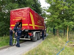 FW-MH: Bundesamt für Bevölkerungsschutz und Katastrophenhilfe und Feuerwehr Mülheim an der Ruhr organisieren Trinkwassernotversorgung im Katastrophengebiet