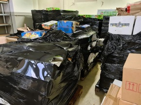 ZOLL-BB: Gemeinsame Pressemitteilung Neue Rekordmenge: GEZig stellt über zehn Tonnen unversteuerten Shishatabak sicher