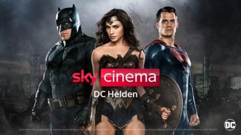 Sky Cinema DC Helden: Superman, Wonder Woman, die Justice League und der Joker in ihren Hits exklusiv bei Sky und Sky Ticket