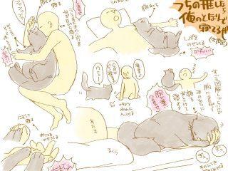 こんなことがあっていいのか…「猫と一緒に寝る様子」を描いたイラストがあまりにも羨ましい
