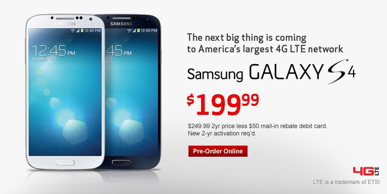 Samsung Galaxy S4: Pre-Order Now
