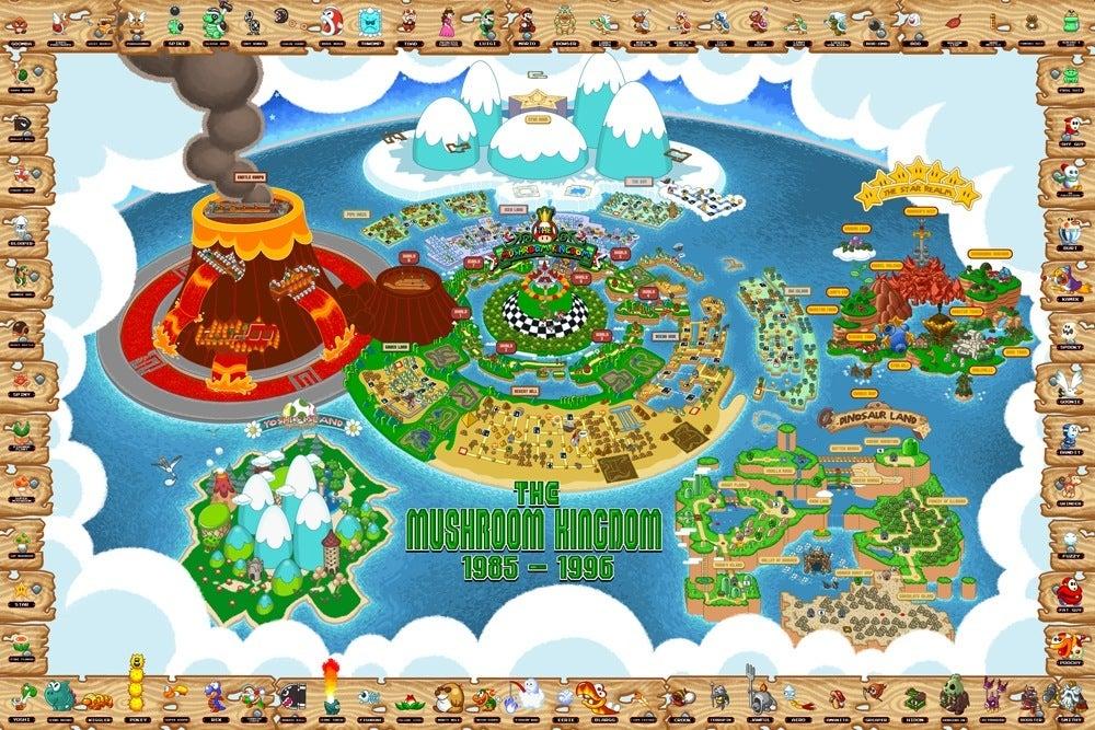 Mushroom Kingdom map