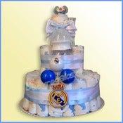 Imagen de Tarta de pañales del REAL MADRID