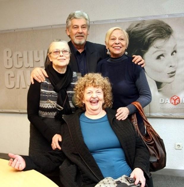 С Татяна Лолова, Илка Зафирова и Стефан Данаилов на рожден ден на Дарик радио