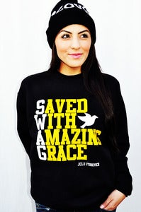 Image of 038-SWAG BLACK SWEATER/UNISEX
