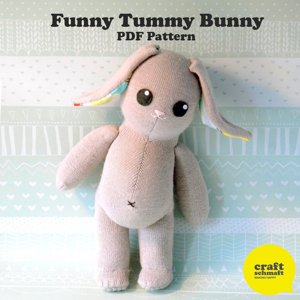 Funny Tummy Bunny Pattern (PDF)