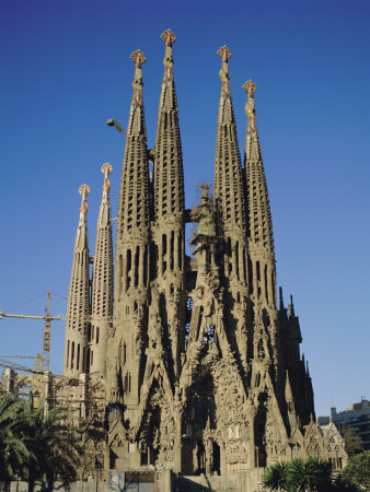 La Sagrada Familia, Gaudi Cathedral, Barcelona, Catalonia ...