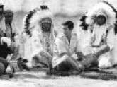 Prince Charles Attending Blackfoot Indian Tribal Ceremony in Calgary, Canada Photographic Print