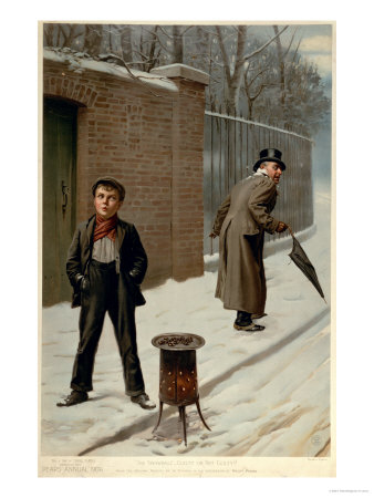"""""""The Snowball, Guilty or Not Guilty, from the Pears Annual, Christmas, 1906"""" Giclee Print"""