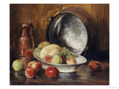 """""""Still Life with Fruit and Copper Pot"""" Giclee Print"""