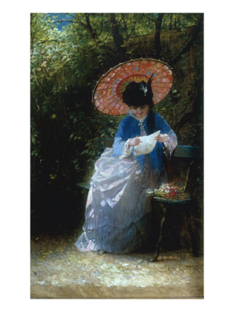 """Young Girl Reading, 1873"" Giclee Print"