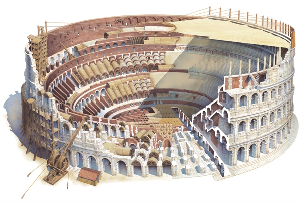 Human And Natural Damage In The Roman Colosseum Classic