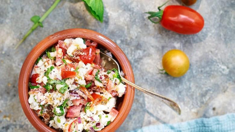 Tomatröra med mozzarella
