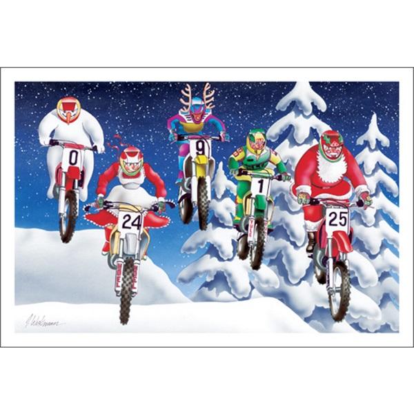 Santa And Mrs Claus Motocross Racing Paul Oxman Publishing