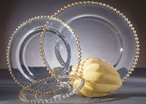 Transparent China with Gold Beaded Trim Rentals in Miami