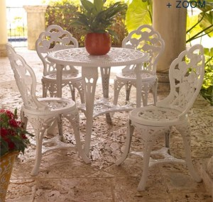 5 piece rose bistro set