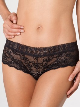 Empowered Lace Black Hipster Panty
