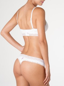 Empowered | Embroidered White Thong