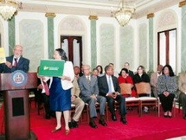 Los detalles del plan de alfabetización fueron ofrecidos en el Palacio Nacional.