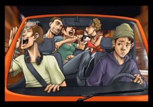 Car_party_by_WakaBee