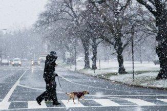 Fuerte tormenta de nieve llega a Washington, EE.UU.