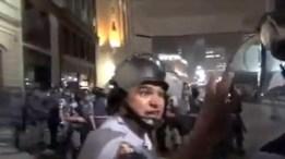 Policia en bracil en protesta
