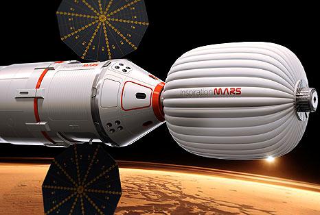 Los que respaldan el proyecto planean usar un cohete y cápsula espacial privados y algún tipo de hábitat que pudiera ser inflable, con un diseño austero que pudiera llevar dos personas a Marte por una fracción de lo que le costaría a la NASA hacerlo con robots, dijeron funcionarios.