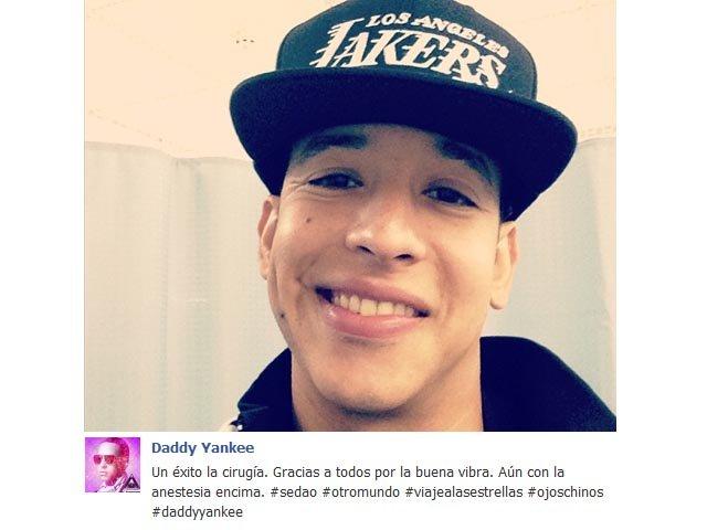 El cantante fue operado y compartió una foto en la que se le nota con los estragos de la anestesia y un mensaje de agradecimiento a sus fanáticos.