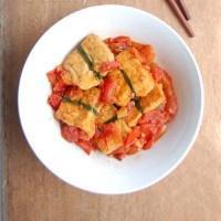Cách làm món Đậu nhồi thịt sốt cà chua