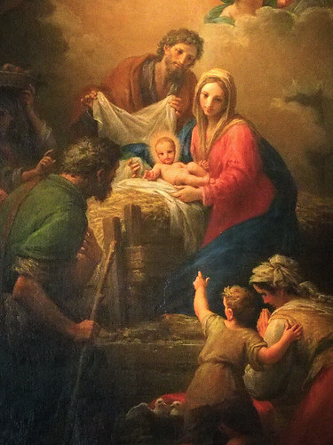 painting of the Nativity of Jesus Chist