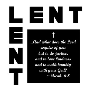 lent icon with what God requires of us