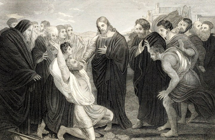 Jesus healing the bind man