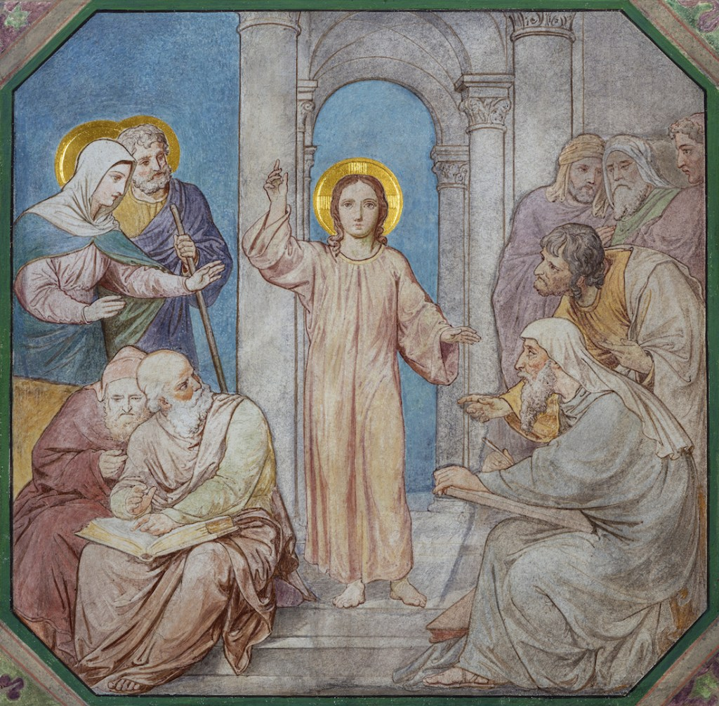 Finding Jesus in the temple mosaic