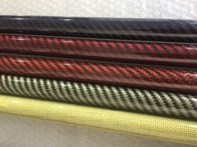 Roll wrapped carbon fiber tube