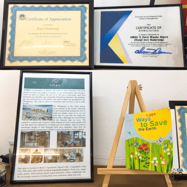 Certificates, an Article, and an Earth Saving Booklet