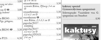 Katalog Frühjahr 2009 Auszug Gymnocalycium