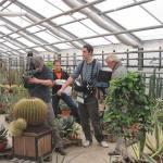 Vorarbeiten für den nächsten ARD-Ratgeber Garten und Heim bei Kakteen-Haage im Gewächshaus