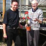 Ulrich Haage und Warren Withers - zu Gast bei Kakteen-Haage in Erfurt