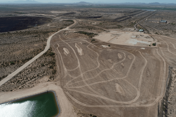 Aerial Photo of the Cactus Mine (formerly Sacaton Pit) in Arizona